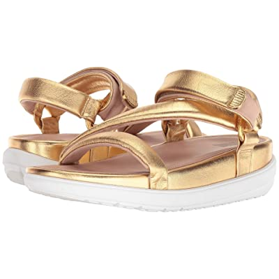 FitFlop Loosh Luxetm Z-Strap Leather Sandals (Gold Metallic Leather) Women