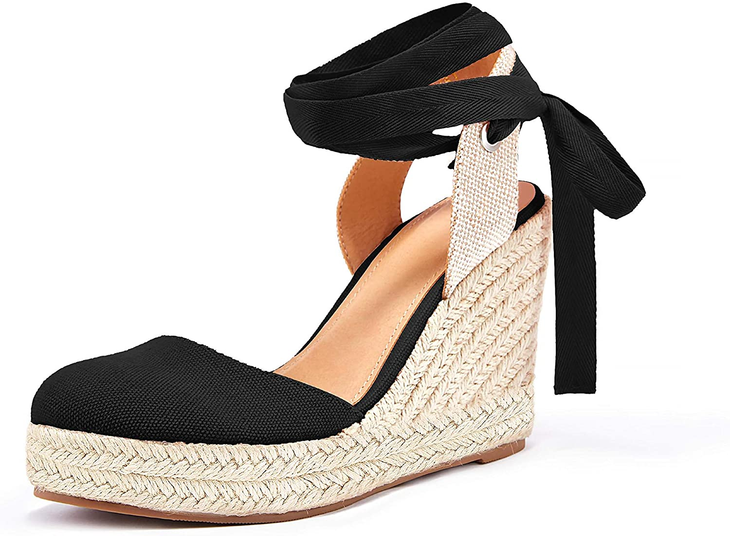 Ranking TOP20 Womens Espadrille Wedge Sandals Closed Platform Up Toe Ankl Max 46% OFF Lace