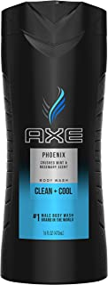 AXE Men's Body Wash for a Clean and Cool Feel Phoenix Bodywash Soap 16 oz, Pack of 4