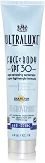 ضد آفتاب ULTRALUXE SKIN CARE Micro-Venom SPF 30 Face and Body، 4 Fl Oz