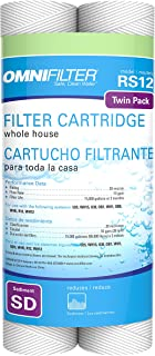 Omnifilter RS-12 SD Omni RS 12 Whole House Replacement Under Sink Water Filter RS12 Twin Pack (Package of 2 filters) RS12 SD Sediment Water Filter Replacement for RS 3 DS