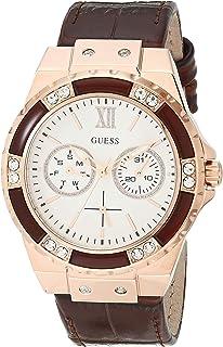 ساعة انالوج من جيس W0775L14 للنساء، مصنوعة من الجلد الطبيعي للنساء - لون بني