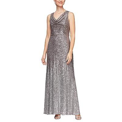 Alex Evenings Plus Size Long Sequin Dress