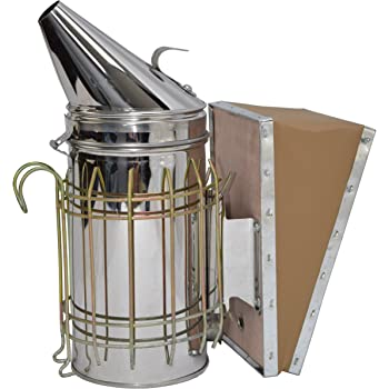 VIVO Stainless Steel Bee Hive Smoker with Heat Shield, Beekeeping Equipment (BEE-V001)