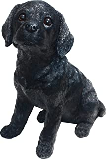 Labrador L Shadow-Black Puppy Love by Michael Carr Designs - Outdoor Dog Figurine for Gardens, patios and lawns (80098)