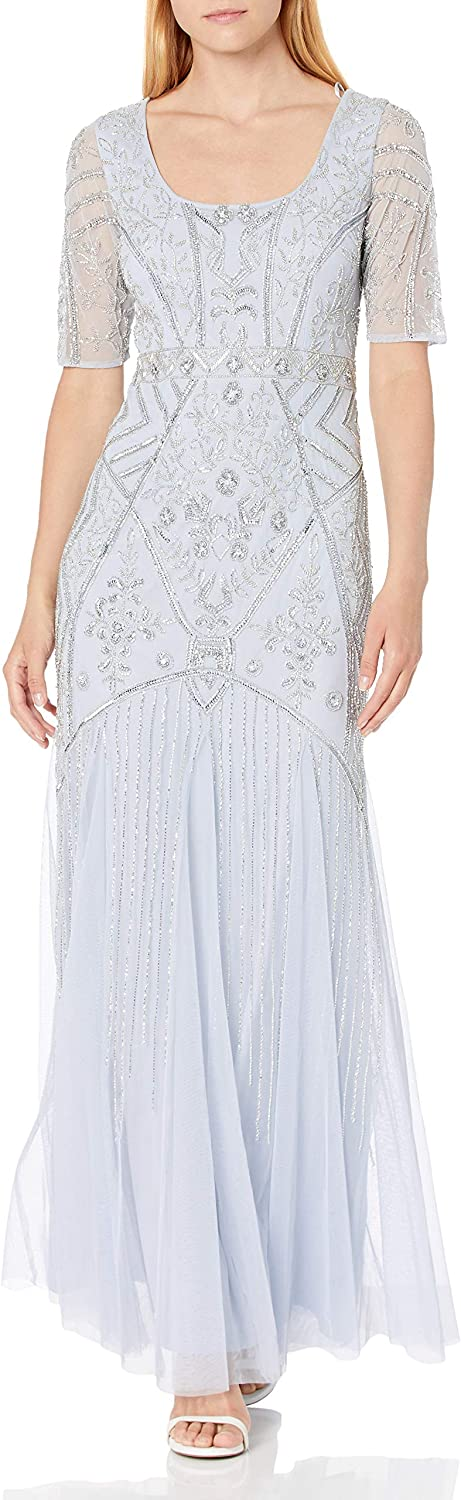 Hailey by Adrianna Papell Women's Beaded Gown