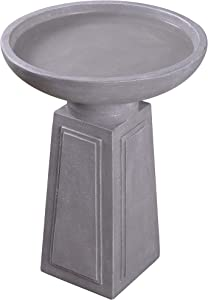 Kenroy Home 51050CON Pedestal Fountains, 21.5 Inch Height, Light Grey Finish