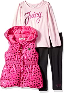 Juicy Couture 女童泡泡棉背心 3 件套