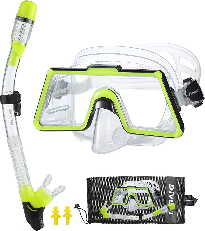 DiVLMT Adult Snorkel Set NEW before selling Panoramic View 180° Overseas parallel import regular item SnorkelingGear