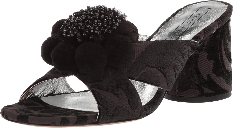 Marc Jacobs Womens Aurora Pompom Mule Sandal