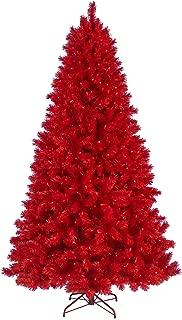 Treetopia Lipstick Red Christmas Tree, 6 Feet, Red Lights