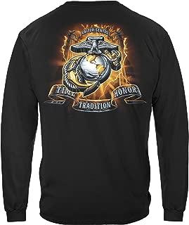 Marine Corps T-Shirt USMC Gold Honor Tradition Eagle T-Shirt MM2136