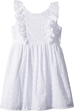 Us Angels Eyelet Fit & Flare Dress (Toddler/Little Kids)