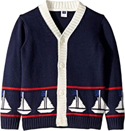 Sailboat Cardigan Sweater (Toddler/Little Kids/Big Kids)