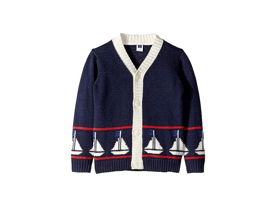 Janie and Jack Sailboat Cardigan Sweater (Toddler/Little Kids/Big Kids) (Multi) Boy