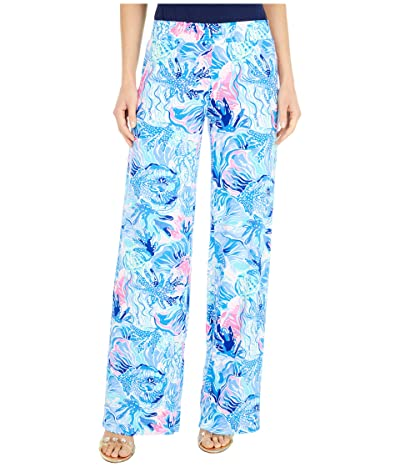 Lilly Pulitzer Lorena Breezy Palazzo Pants (Saltwater Blue Shade Seekers) Women