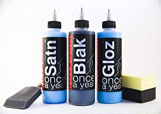 Home Set, Apply Once a Year – Restore Plastic, Vinyl, Rubber, Restore Color, Prevents Tire Dry Rot – Weatherproof, UV Block, Dry-Seal – 3 X 8oz KIT