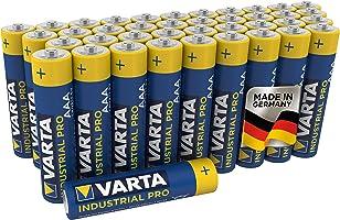 Varta Industrial Batterij AAA Micro Alkaline Batterijen LR03 - Verpakking van 40 stuks, milieuvriendelijke verpakking, Blauw