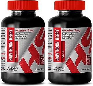 Circulation pills - HAWTHORN EXTRACT - Hawthorn leaf and flower bulk - 2 Bottles 240 Capsules