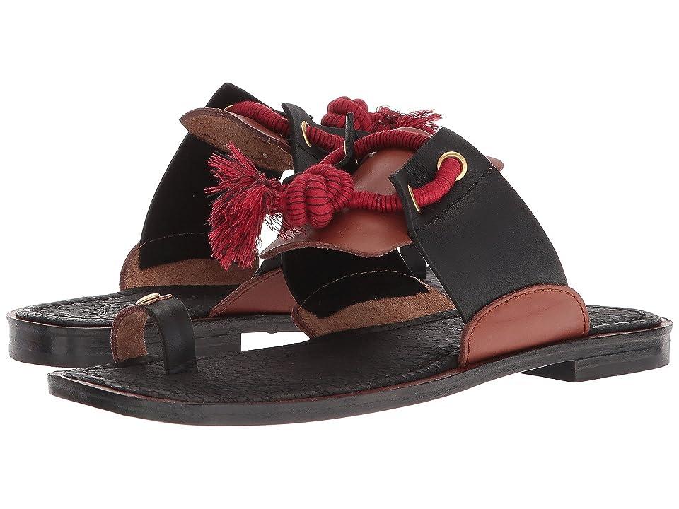 Free People Maui Slide Sandal (Black Combo) Women