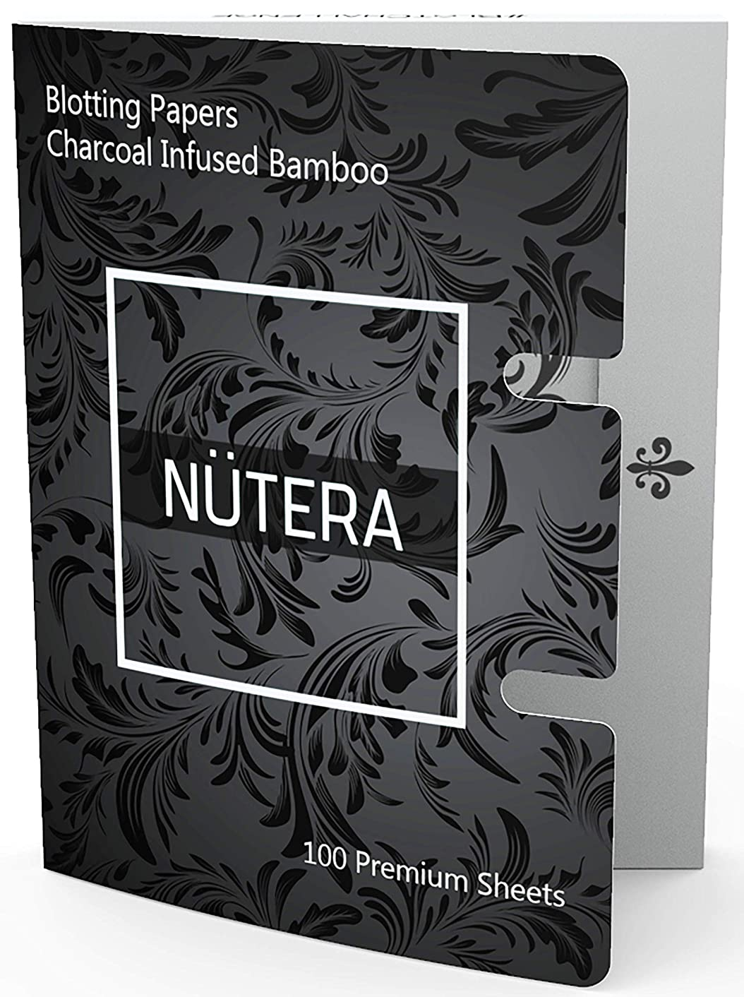 Natural Bamboo Charcoal Oil Absorbing Tissues - 100 Sheets - Premium Oil Blotting Paper for Face - Facial Skin Care Make Up