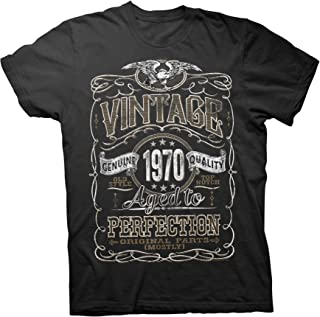 50th Birthday Gift Shirt - Vintage Aged to Perfection 1970 - Distressed