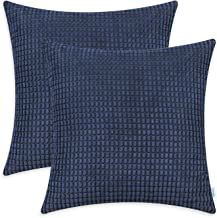 TOMKEYS Throw Pillow Cover Blue Japan