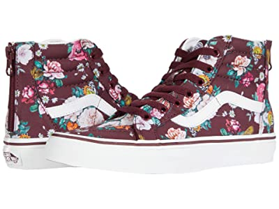 Vans Kids SK8-Hi Zip (Big Kid) ((Butterfly Floral) Port Royale/True White) Girls Shoes