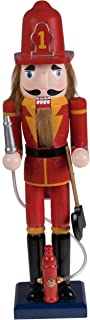 """Clever Creations Fireman Nutcracker Festive Christmas Decor 
