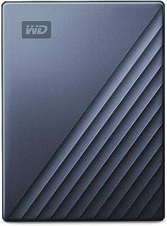 WD ポータブルHDD 4TB USB Type-C ブルー My Passport Ultra 暗号化 パスワード保護 外付けハードディスク / 3年保証 WDBFTM0040BBL-WESN