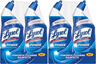 Lysol Power Toilet Bowl Cleaner, 48oz (2X24oz), 10X Cleaning Power (Pack of 2)