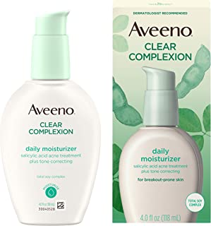 Aveeno Clear Complexion Salicylic Acid Acne-Fighting Daily Face Moisturizer with Total..