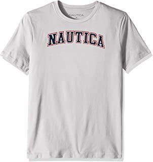 Nautica Men's Short Sleeve 100% Cotton Classic Logo Series Graphic Tee white, X-Large