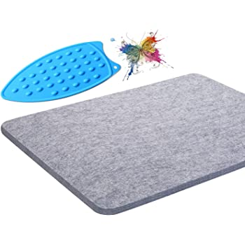 BFACCIA 17x13.5 Wool Ironing Mat Quilting Pressing Pad Portable for Quilting,Sewing,Pressing Seams,Embroidery Crafts Gift