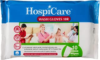 Hospicare Wash Glove 10R, 10 count