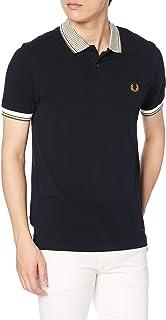 [フレッドペリー] ポロシャツ STRIPE COLLAR POLO SHIRT M8638 メンズ 608_NAVY UK XS (日本サイズS相当)