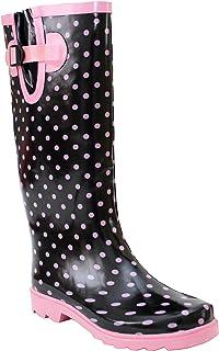 6e1b1ed2bcf6b A H Footwear Ladies Womens New Adjustable Calf Waterproof Rubber Festival  Rain Mud Snow Girls Wellington Boots