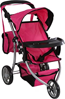 mommy and me double doll stroller