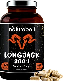 Long Jack Extract as Tongkat Ali 200:1, 1000mg Per Serving, 120 Capsules, Supports Energy, Stamina and Immune System for M...