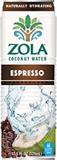 Zola Coconut Water with Espresso, 17.5 Ounce (Pack of 12)