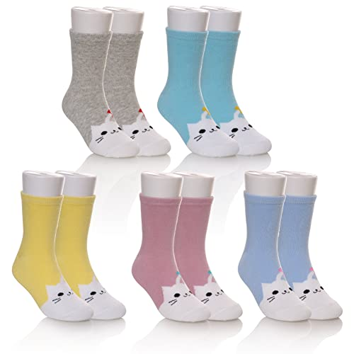 Maiwa Cotton Bowknote Almost seamless Socks for Girls 5 Pack