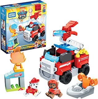 Mega Bloks PAW Patrol Marshall's City Fire Rescue with Mini Building Blocks, Building Toys for Kids 3 Years & Older (34 Pi...