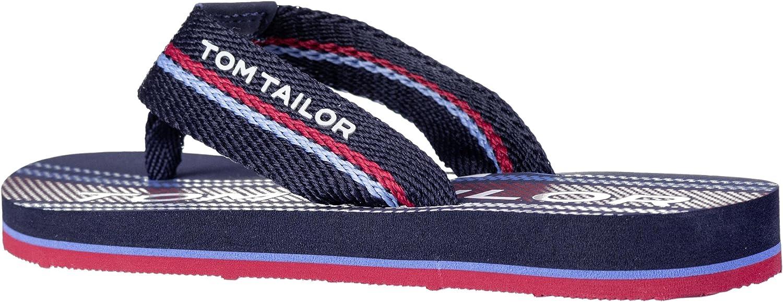TOM TAILOR Men's 8070303 Flip Flops, Multicoloured Navy Red 00117, 4.5 UK