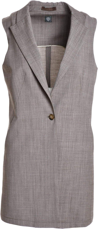 ELEVENTY Women's 980JA3065JAC2303802 Grey Cotton Vest
