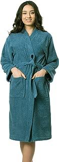 Women's Luxury Robe Turkish Cotton Terry Towel Kimono Bathrobe Made in Turkey