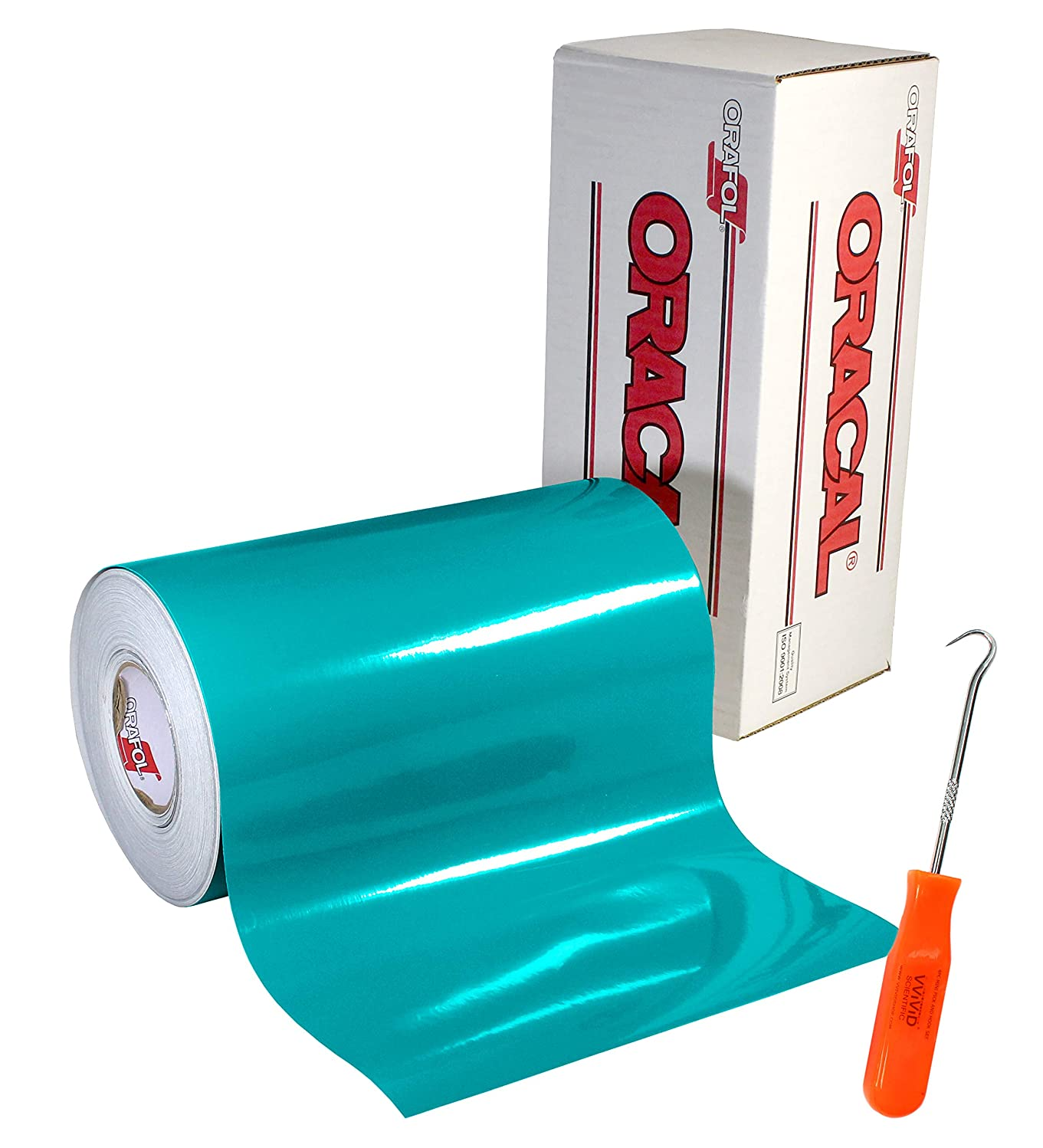 Oracal 651 Permanent Glossy Turquoise Adhesive Vinyl (12