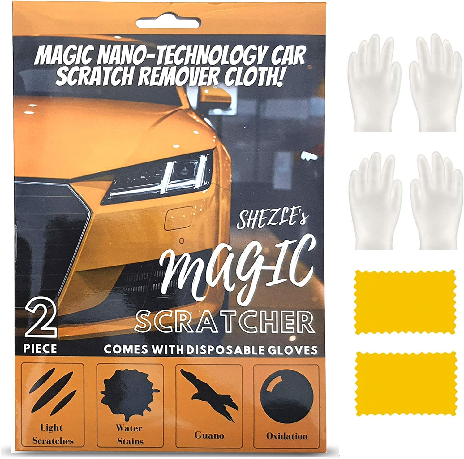 2PCS with Gloves Nano Sparkle Car Ranking TOP7 Mag Scratches Cloth Sale for
