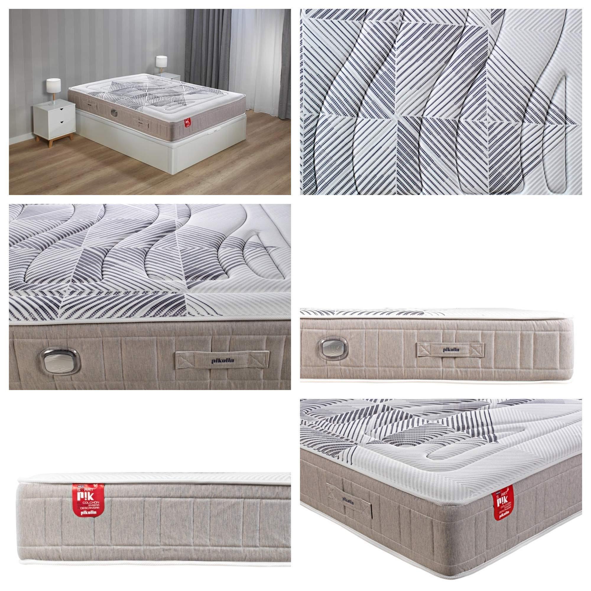 Pikolin COLCHÓN Inteligente Smart PIK E-Sleep MUELLES ENSACADOS Y VISCOELÁSTICA (135x180): Amazon.es: Hogar