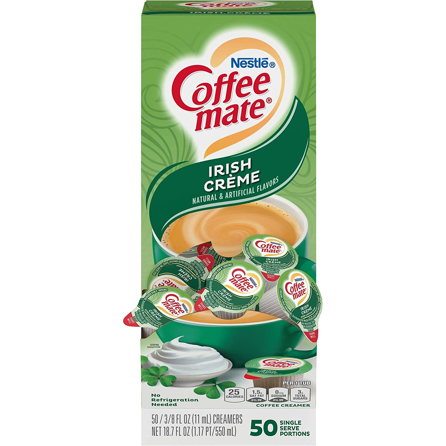Coffee-mate 35112 Liquid Coffee Creamer Directly managed store Irish BX 50 Popular shop is the lowest price challenge Creme
