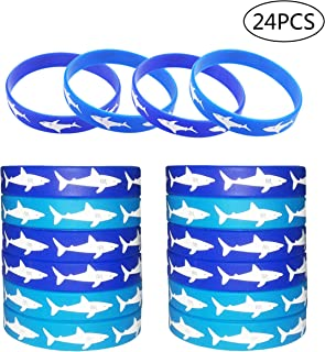 Shark Party Favors Rubber Wristbands Bracelet Under the Sea Shark Birthday Party Favors Supplies Gift Decorations 24 PCS